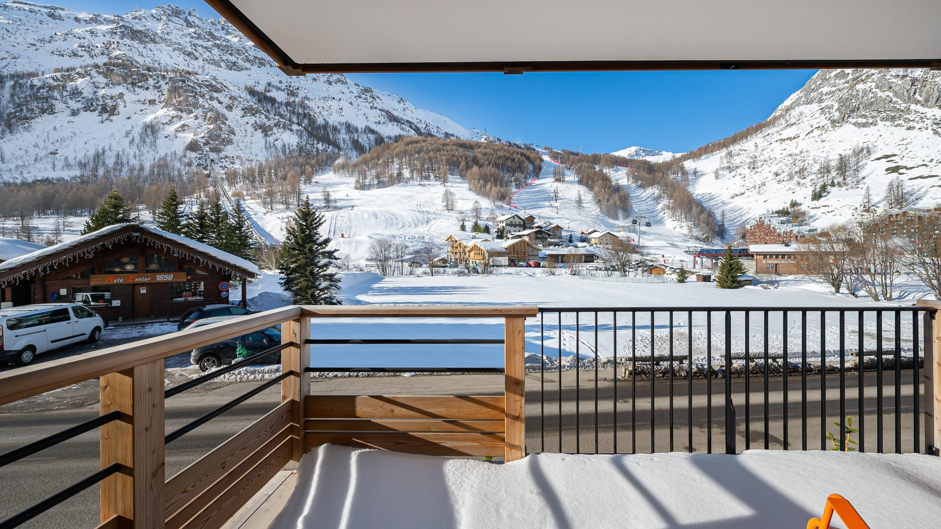 Appartement Sifflote 9 - Location chalets Covarel - Val d'Isère Alpes - France - Terrasse