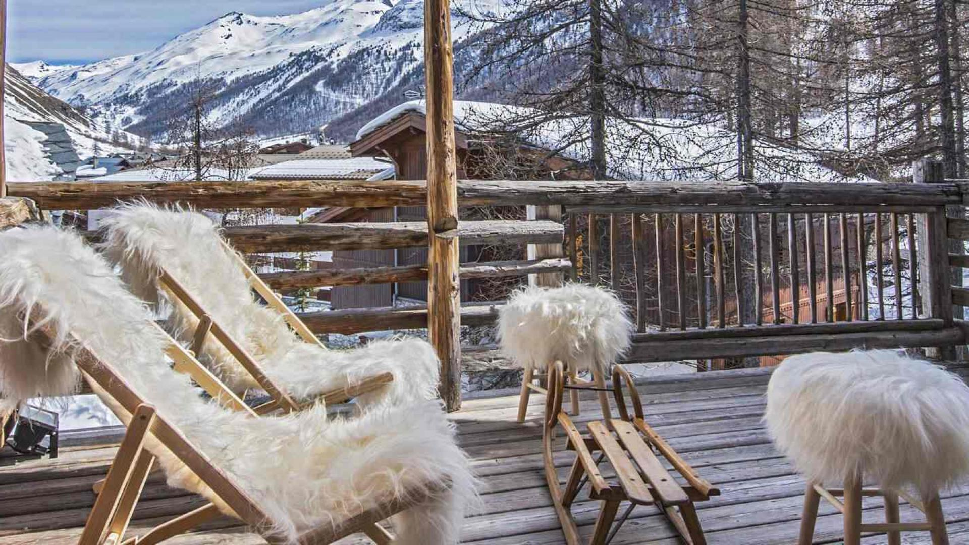 Chalet Alice 3 - Location chalets Covarel - Val d'Isère Alpes - France - Terrasse