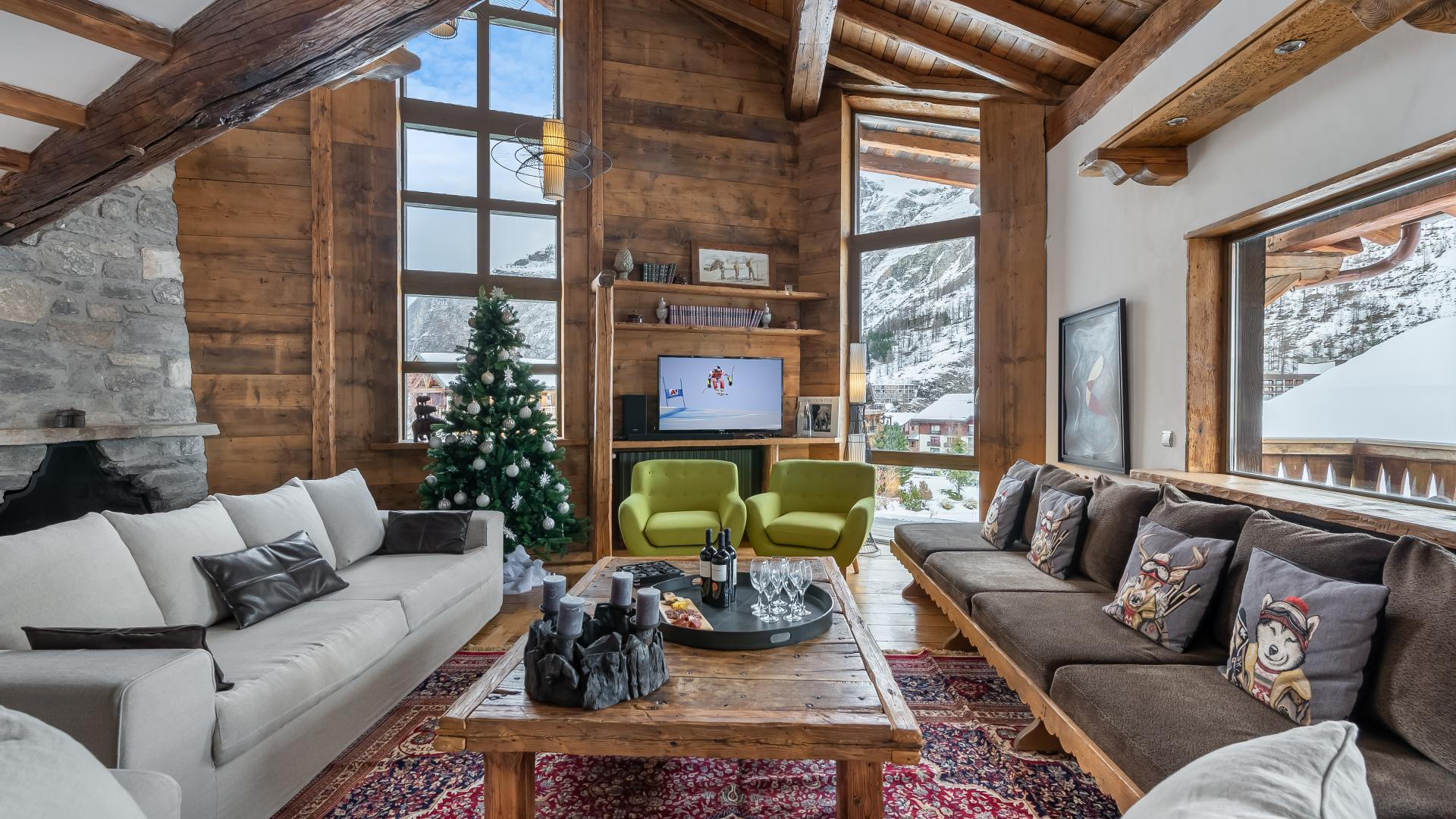 Chalet Pauline - Location chalets Covarel - Val d'Isère Alpes - France - Salon